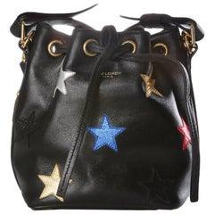 Saint Laurent Mini Leather Bucket Bag with Metallic Stars