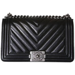 Chanel Boy Bag with Quilted Chevron Flap, 2010
