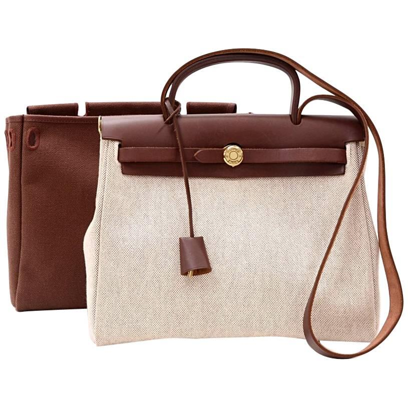 Cheap Shopping Online Buy Cheap New Styles Hermès Herbag Leather Handbag 100% Original For Sale Discount Sale Cheap Sale For Sale HAwUupcayq