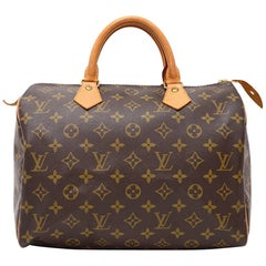 Vintage Louis Vuitton Speedy 30 Monogram Canvas City Hand Bag
