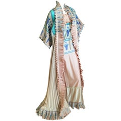 Zandra Rhodes Superb 1970's Wingback Plisse Pleated Lettuce Trim Coat and Dress