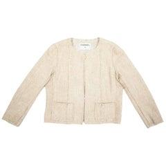 CHANEL Short Jacket in Beige Tweed Size 38FR
