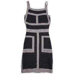 HERVER LEGER Stretch Black Dress Size S