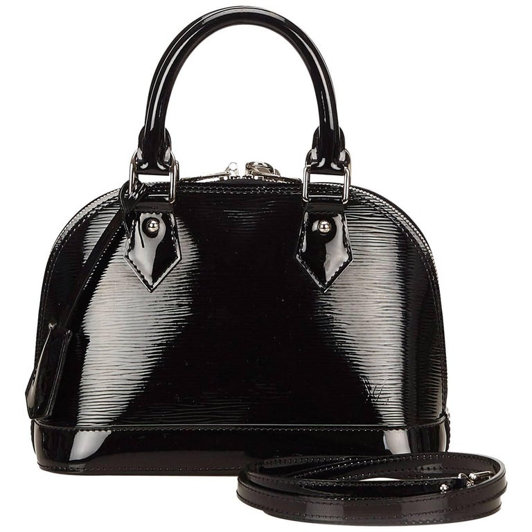 Louis Vuitton Black Epi Alma BB Shoulder Bag
