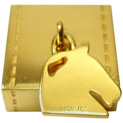 So Cute Hermès Ring Twilly Horse Charm Gold Plated / Good Condition