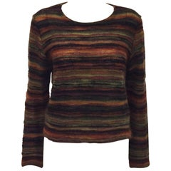 Magnifico Missoni Multi Color Mohair Long Sleeve Sweater
