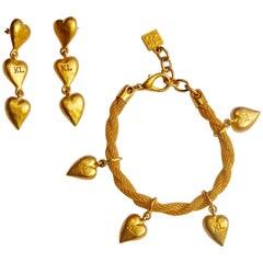 Karl Lagerfeld Logo and Heart Earrings and Bracelets
