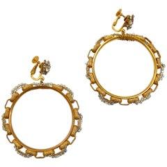 Miriam Haskell Hoop Earrings