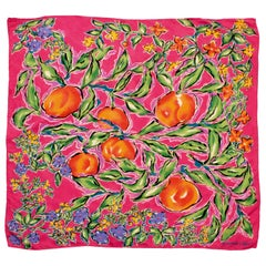 Ungaro Bold Floral Scarf Shawl Large 33in Silk Cashmere Blend Jacquard 80s