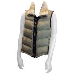 Prada Cream Down Puffer Vest