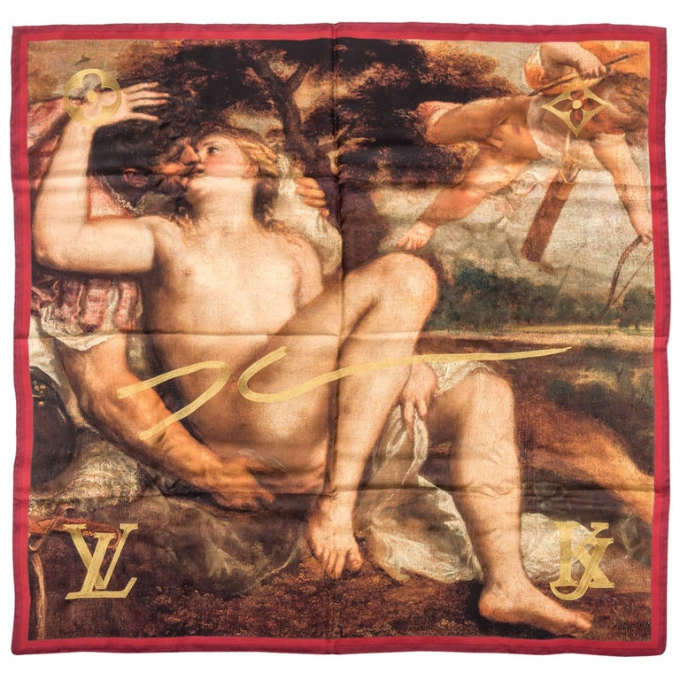 Jeff Koons X Louis Vuitton Masters Titian Scarf