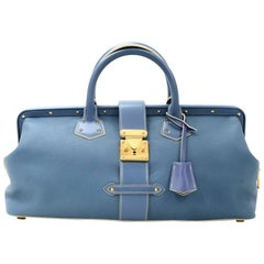 Louis Vuitton L'lngenieux Blue GM Suhali Leather Hand Bag