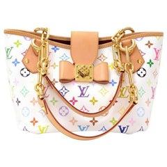 Louis Vuitton Annie MM White Multicolor Monogram Canvas Hand Bag