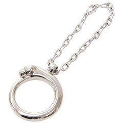 Cartier Silver Tone Panther Hoop Key Holder/ Bag Charm