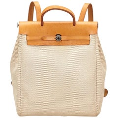 Hermes White Herbag Backpack