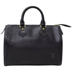 Vintage Louis Vuitton Speedy 25 Black Epi Leather City Hand Bag