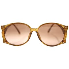 1970s Christian Dior Glittery Amber Sunglasses