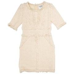CHANEL Dress in Beige Tweed Size 38FR