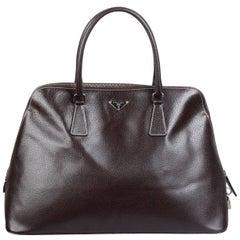 PRADA Brown Leather BOWLING BAG Satchel