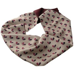 Louis Vuitton Snood Scarf Heart 100% Silk / Good Condition