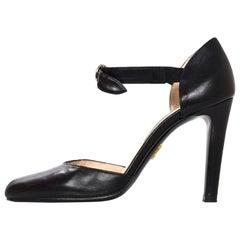 Prada Black Leather d'Orsay Pumps Sz 36