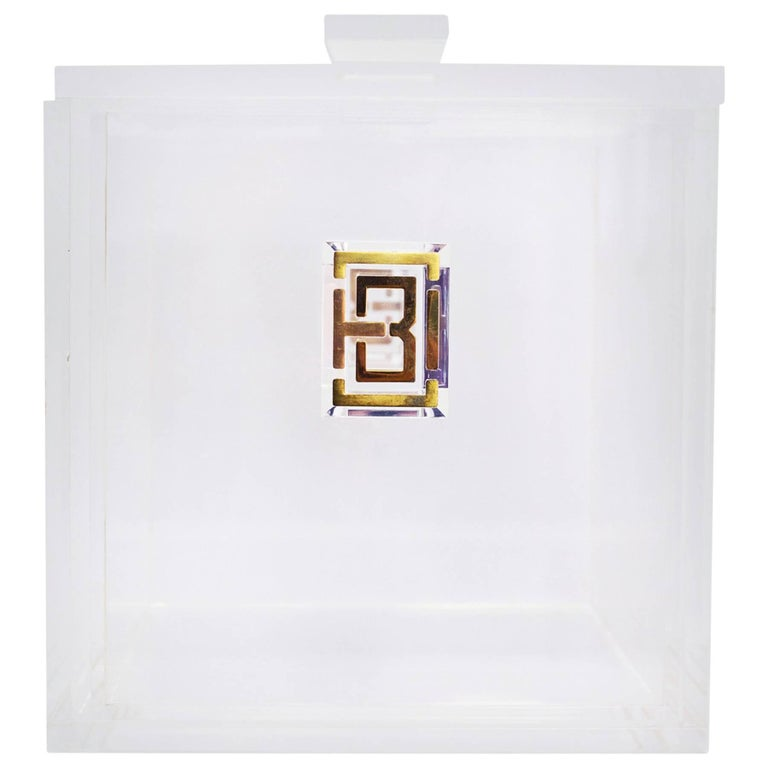 Tory Burch Clear Lucite Ice Bucket w/ Box