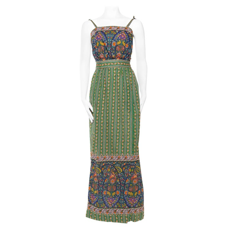 1970s Tina Leser for Saks Cotton Boho Ensemble