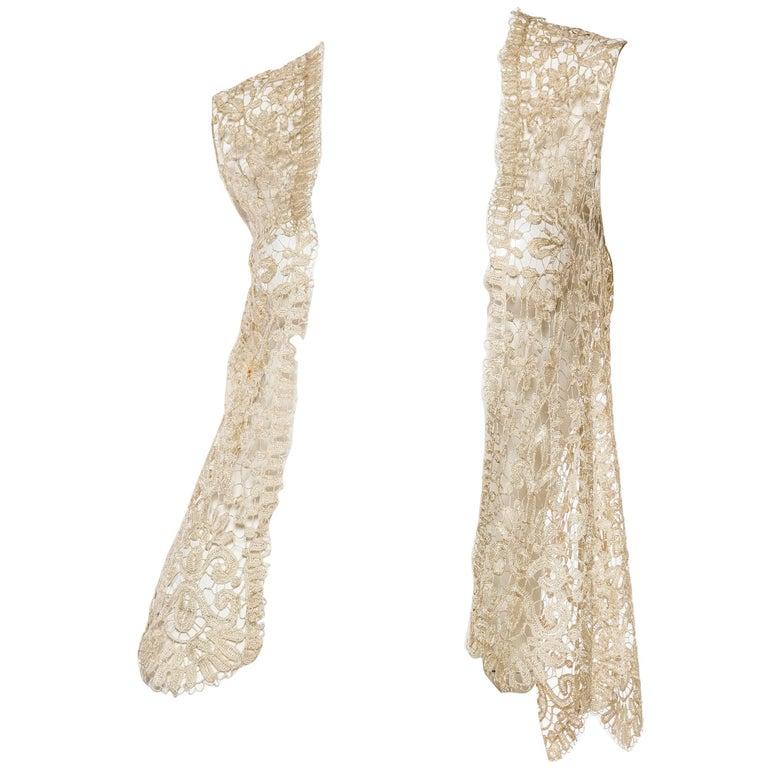 1920s Art Deco Handmade Lace Vest