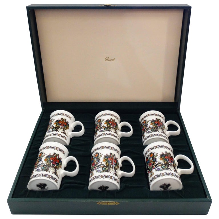 1980s Gucci China Tea Set w/ Box
