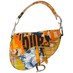 Iconic Christian Dior Canvas Saddle Bag