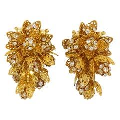 Lois Ann Cluster Clip On Earrings