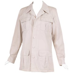 1970s Yves Saint Laurent YSL Safari Top Jacket