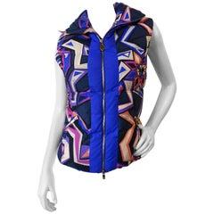 Emilio Pucci Geometric Puffer Vest