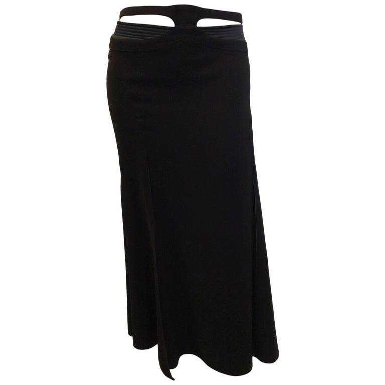 Versace Maxi Belted Skirt