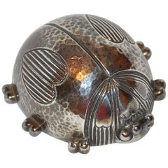 "Reed & Barton Sterling Silver Plated ""Lady Bug"" Musical Wind-Up"