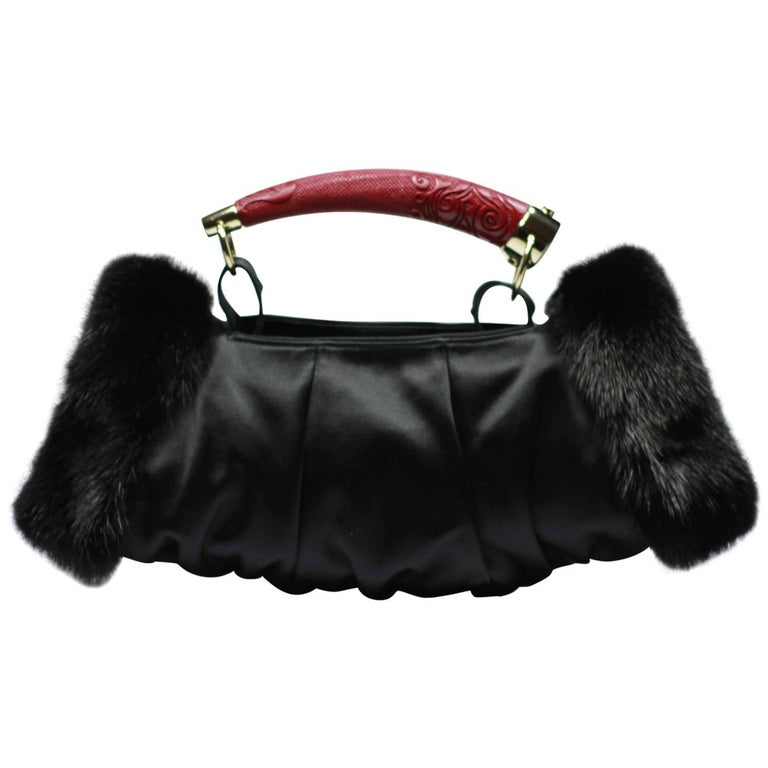 d5d274dce994 Collectible Limited Edition Mombasa Handbag   Glove Satin Mink Tom ford for  YSL For Sale