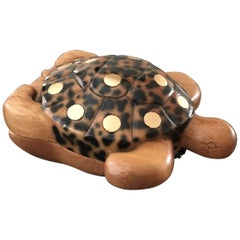 Timmy Wood Wooden Turtle Shoulder Handbag.