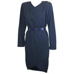 Yves Saint Laurent Jersey Faux Wrap Dress
