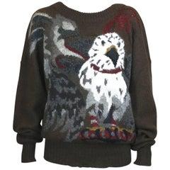 Krizia California Condor Pullover Sweater