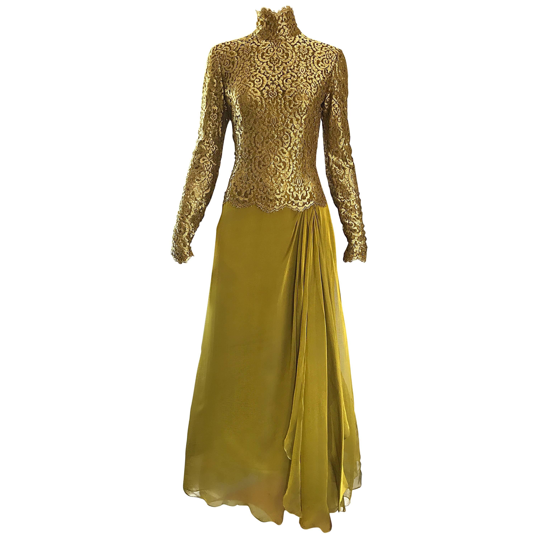 Chiffon Gold Gown