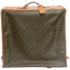 Louis Vuitton Shabby Chic Well Loved Garment Travel Case c 1970s