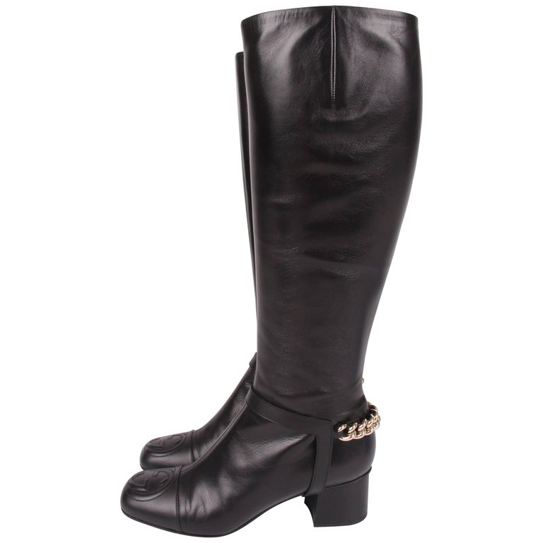 Gucci Lifford Malaga Knee-high Boots - black