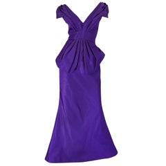 A/W 2013 Oscar De La Renta Spectacular Purple Silk Runway Gown