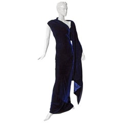 "Alexander McQueen Entrance ""Blue Velvet"" Gown"