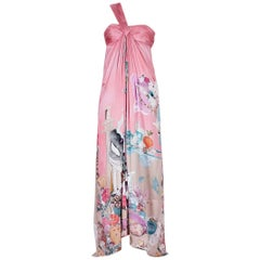 New VERSACE Julie Verhoeven Print Long Dress Gown