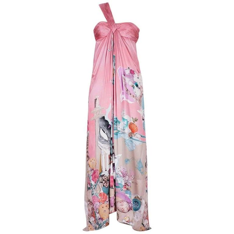 New VERSACE Julie Verhoeven Print Long Dress Gown