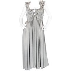 S/S 2008 Bottega Veneta Runway Light Grey Silk Cut Out Dress