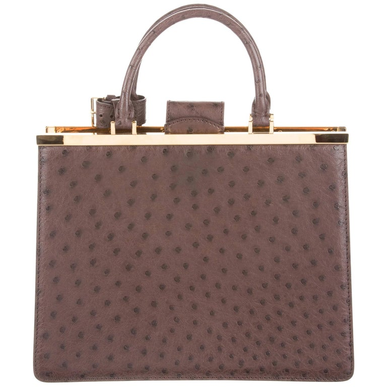 Louis Vuitton Taupe Brown Gold Exotic Kelly Satchel Bag