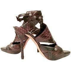 Pair Of Christian Dior Python Platform Sandals