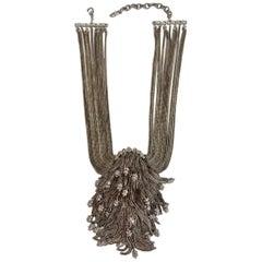 Francoise Montague Simba Rhodium Chain Cascade Necklace